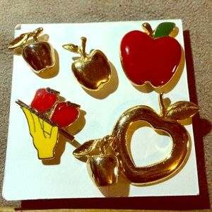 Apple/Teacher Pin Lot